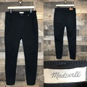 Madewell Curvy High Rise Skinny Black Jeans